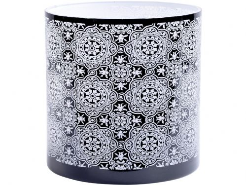 Black & White Circle Pattern Glass Hurricane